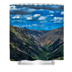 Shower Curtain featuring the photograph Above It All by Don Schwartz