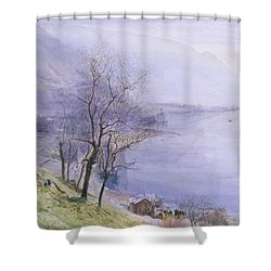 Above Montreux Shower Curtain by John William Inchbold