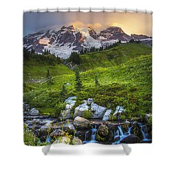 Above Myrtle Falls 3 Shower Curtain