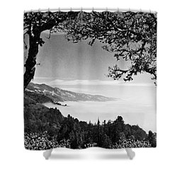 Above Nepenthe In Big Sur Shower Curtain by Joseph J Stevens