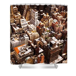 Above New York City Shower Curtain by Vivienne Gucwa