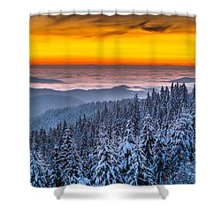 Above Ocean Of Clouds Shower Curtain by Evgeni Dinev
