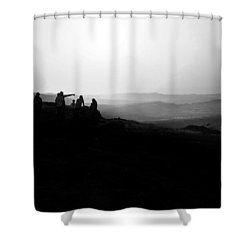 Above Pune, India Shower Curtain