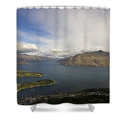 Above Queenstown #2 Shower Curtain by Stuart Litoff