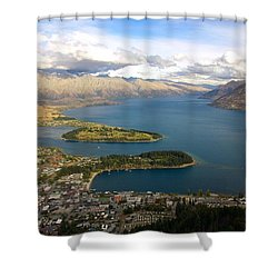 Above Queenstown Shower Curtain by Stuart Litoff