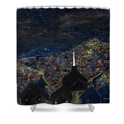Above The City At Night Shower Curtain