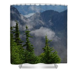 Above The Cloud Shower Curtain