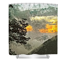 Above The Clouds 3 Shower Curtain by Steve Harrington