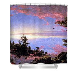 Above The Clouds At Sunrise By Frederick Edwin Church Shower Curtain