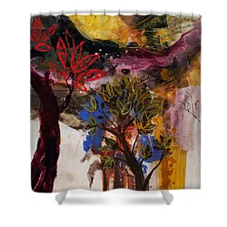 Above The Tree Tops Shower Curtain by Robin Maria Pedrero