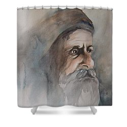 Abraham Shower Curtain by Annemeet Hasidi- van der Leij