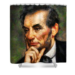 Abraham Lincoln - Abstract Realism Shower Curtain