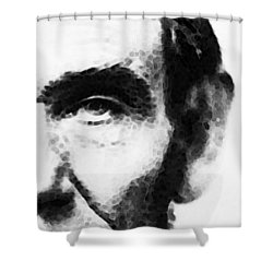 Abraham Lincoln - An American President Shower Curtain by Sharon Cummings