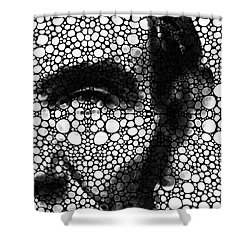 Abraham Lincoln - An American President Stone Rock'd Art Print Shower Curtain by Sharon Cummings