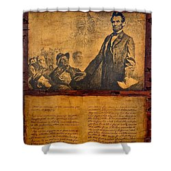 Abraham Lincoln The Gettysburg Address Shower Curtain