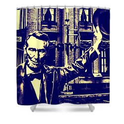 Abraham Lincoln At Gettysburg Shower Curtain by Bill Cannon