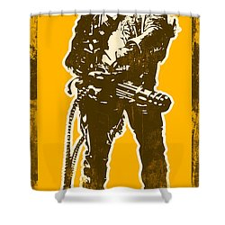 Abraham Lincoln - The First Badass Shower Curtain by Pixel Chimp