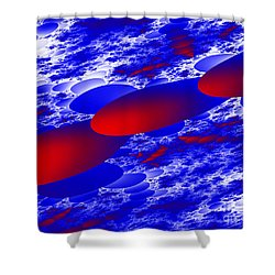 Shower Curtain featuring the digital art Fly Away by Hai Pham