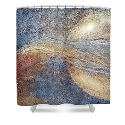 Abstract 9 Shower Curtain