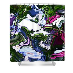 Shower Curtain featuring the digital art Absent by Richard Thomas