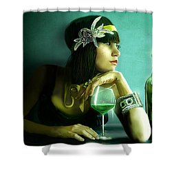Absinthe Shower Curtain