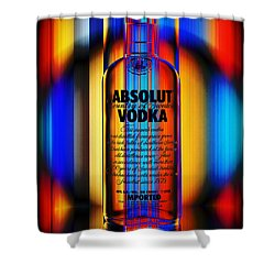 Absolut Abstract Shower Curtain by Chuck Staley