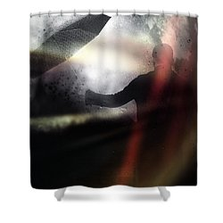 Absolute Elsewhere Shower Curtain by Taylan Apukovska