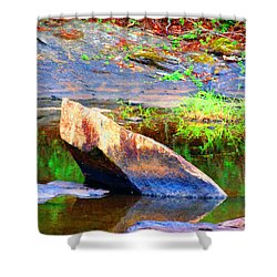 Abstact Rock				 Shower Curtain