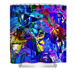 Abstract 010215 Shower Curtain by David Lane