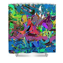 Abstract 011515 Shower Curtain by David Lane