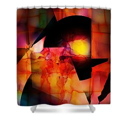 Shower Curtain featuring the digital art Abstract 012615 by David Lane