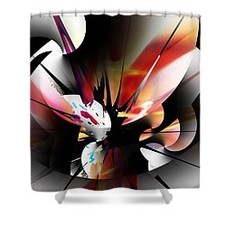 Shower Curtain featuring the digital art Abstract 082214 by David Lane