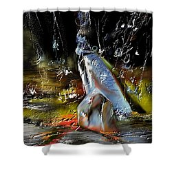 Abstract 1 Shower Curtain by Francoise Dugourd-Caput