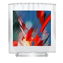 Abstract 11 Shower Curtain by Anil Nene