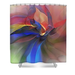 Abstract 121214 Shower Curtain by David Lane
