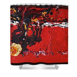 Abstract 13 - Dragons Shower Curtain by Mario Perron