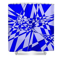 Abstract 152 Shower Curtain by J D Owen