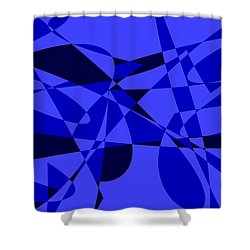 Abstract 153 Shower Curtain by J D Owen