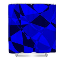 Abstract 154 Shower Curtain by J D Owen