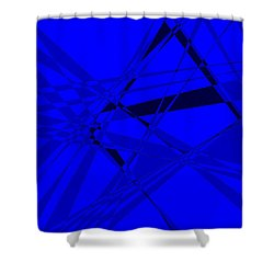 Abstract 156 Shower Curtain by J D Owen