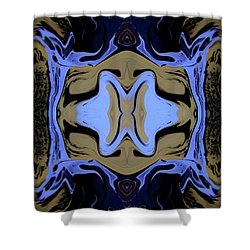 Abstract 161 Shower Curtain by J D Owen