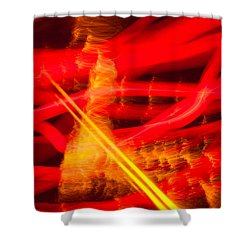 Abstract 18 Shower Curtain