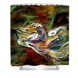 Abstract 2 Shower Curtain by Francoise Dugourd-Caput