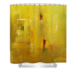 Shower Curtain featuring the painting Abstract 2015 01 by Becky Kim