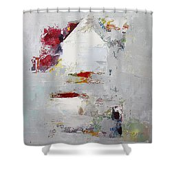 Shower Curtain featuring the painting Abstract 2015 04 by Becky Kim