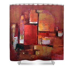 Shower Curtain featuring the painting Abstract 2015 05 by Becky Kim