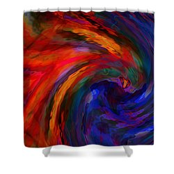 Abstract 29012013 - 042 Shower Curtain by Stuart Turnbull