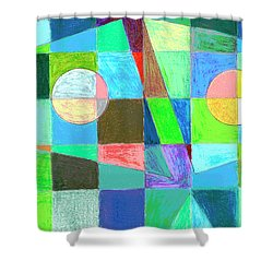 Shower Curtain featuring the drawing Abstract 3 by Mary Bedy