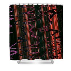 Abstract 327 Shower Curtain