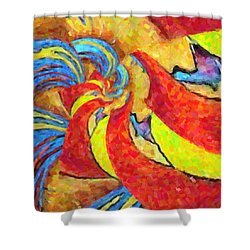 Abstract 34 Shower Curtain by Kenny Francis